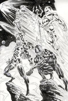 Fantastic Four Allies by Claudio Castellini