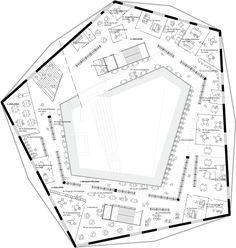 ADEPT wins Dalarna Library competition,Floorplan © ADEPT Architects Sou Fujimoto