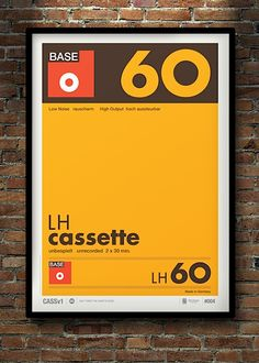"""Dont Forget The Cassette"" – Minimalist Posters of Cassette Tape Labels by Neil Stevens"