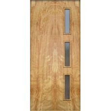 """The """"Langston""""  http://www.crestviewdoors.com/   I like the windows but the door is not insulated which is not great.  they have window kits too  http://www.crestviewdoors.com/order/order-online/doorlite-kits.html"""