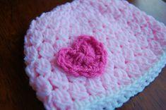 crochet baby hats patterns | Free Crochet Hat Pattern – Girl's Valentine's Day Hat
