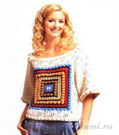 Пуловер спицами вязаный по описанию и схеме