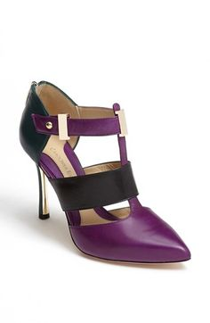 Carolinna Espinosa 'Button' Pump available at #Nordstrom ~ If these had a much short and wider heel, they would be MINE!