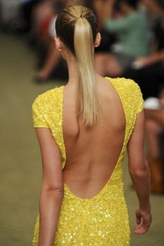 Sequin Yellow Dress