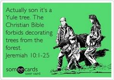 If only people actually researched the things they celebrate and believe... #Christmas