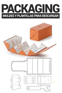 holly Idea to Create Original Product Packaging.- Molds and templates for Packaging! Packaging Dielines, Toy Packaging, Cardboard Packaging, Paper Packaging, Jewelry Packaging, Packaging Design, Diy Gift Box, Diy Box, Paper Box Template