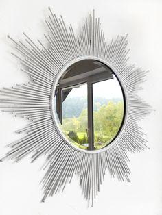my private sun mirror :) Sun Mirror, Diy Room Decor, Home Decor, Diy Crafts, Unique, Decoration Home, Room Decor, Make Your Own, Homemade