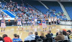 We were lucky enough to go to see the Harlem Globetrotters last night at the Tsongas Center at UMass Lowell. Harlem Globetrotters, Best Blogs, Show Us, Good Times, Basketball Court, Fun Time