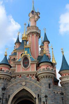 #Paris #France #Love #Disney #Land #Pink #Castle