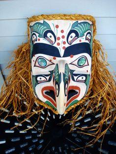 Northwest Coast Native Art Return of the Salmon Eagle mask sculpture carving