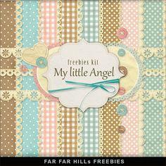 Far Far Hill: Freebies Backgrounds Kit - My Little Angel, para descargar desde un servidor