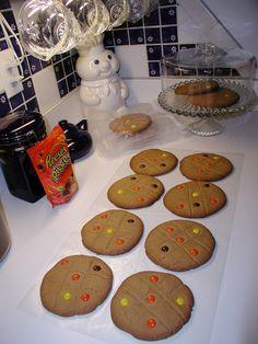 Peanutbutter Cookies, Large Cookies 5 Inch PeanutButter Pancake Cookies or Shamrock Sugar Cookies