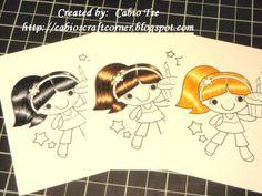 Copic Hair Coloring Tutorial featuring Cupcake Cutie Fhiona - Splitcoaststampers.com