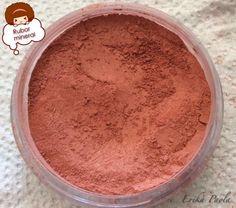 Erika Paola: Blush/Rubor mineral color rojo.