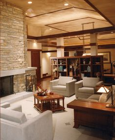 modern prairie style, same stone fireplace.  White doesn't work.  Like the tables