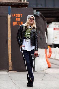 I Heart Nueva York Fashion Week! ( Leather Jackets & Necklaces )