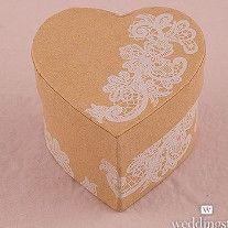 Scatoline a cuore portaconfetti Shabby #shabby #matrimonio
