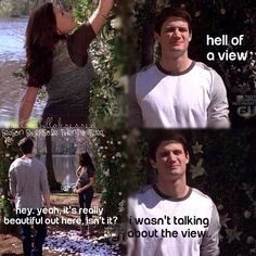 Nathan and haley, love these two :) and love how nathan changes drastically for love :') #truelove #oth #naley