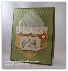 Be Creative With Nicole: Get Well  Pocket card using Vine Street Embossing Folder, Delicate Designs Embossing Folder, Perfectly Penned, Floral Fusion Sizzlet