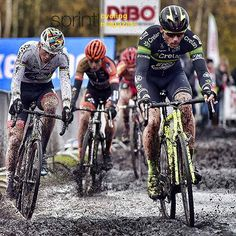 Sven Nys Mathieu van der Poel and Wout van Aert cyclocross Essen @bettiniphoto