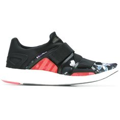 """adidas by stella mccartney """"Pureboost"""" Sneaker ($101) ❤ liked on Polyvore featuring shoes, sneakers, black, adidas shoes, multicolor sneakers, adidas trainers, adidas sneakers and kohl shoes"""