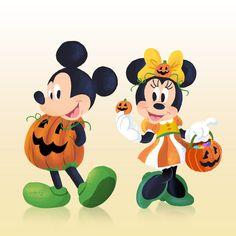Cute Fall Wallpaper, Cute Disney Wallpaper, Halloween Wallpaper, Mickey Halloween, Halloween Cartoons, Disney Love, Disney Art, Desenhos Halloween, Mickey Mouse Wallpaper