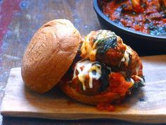 Gluten-free, dairy-free (optional) meatball-Kale Subs are served just in time for the Superbowl!