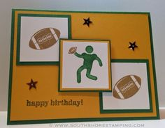 Birthday Card using the Stampin' Up! sets Simply Sports and Great Sport by Emily Mark SU demo Longueuil, Quebec. www.southshorestamping.com - PPA213