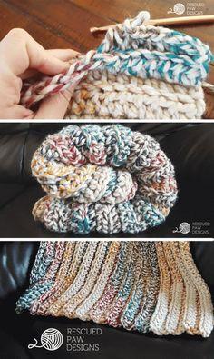 Chunky Crochet Blanket Pattern    FREE BLANKET CROCHET PATTERN    Rescued Paw Designs