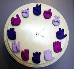Sign language clock!!