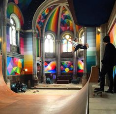 Okuda San Miguel skate iglesia church Llanera Asturias 8