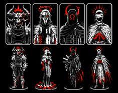 Game Character Design, Fantasy Character Design, Character Art, Apocalypse Art, Horsemen Of The Apocalypse, Dark Fantasy Art, Dark Art, Arte 8 Bits, Cool Pixel Art
