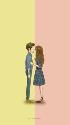 W- two worlds wallpaper Love Cartoon Couple, Cute Couple Art, Anime Love Couple, Cute Anime Couples, Couples In Love, W Two Worlds Wallpaper, World Wallpaper, Black Wallpaper, 3d Wallpaper