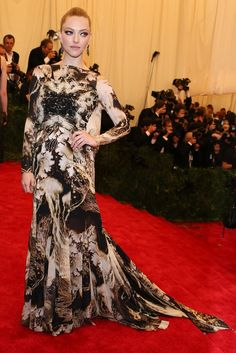 Amanda Seyfried in vintage Givenchy at the Met Gala [Photo by Evan Falk]