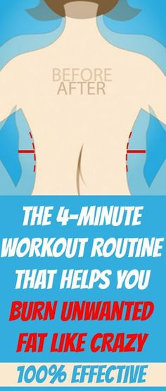 THE 4-MINUTE WORKOUT ROUTINE THAT HELPS YOU BURN FAT LIKE CRAZY