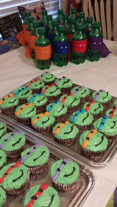TMNT Birthday Party. Those would be so easy.
