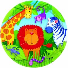 Jungle animals paper plates http://www.wfdenny.co.uk/p/jungle-animals-paper-plates/3384/