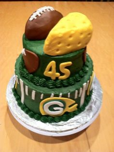 Green Bay Packers birthday cake!