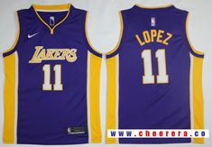 Men s Los Angeles Lakers Brook Lopez New Purple Nike Swingman Stitched NBA  Jersey 7e4d8061b