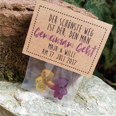 Gastgeschenk Hochzeit Fruchtgummi Kraftpapier GEMEINSAM GEHT