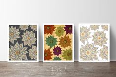 Floral Rhythm Series  15 OFF Set of 3 by PomGraphicDesign on Etsy, $44.00 #floral #floraldecor #floralprints #flowers #summer #spring #homedecor #Decor #interiordesign #poster