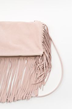 Fringe Shoulder Bag Light Pink