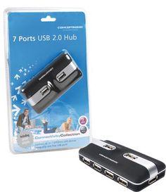 HUB conceptronic 7 puertos c7USB2 USB 2.0 #geek #tecnologia #oferta #regalo #novedades Visita http://www.blogtecnologia.es/producto/hub-conceptronic-7-puertos-c7usb2-usb-2-0