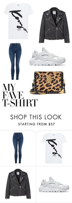 """""""My fave t-shirt"""" by tatum-snel ❤ liked on Polyvore featuring Topshop, Kenzo, MANGO, NIKE, Prada and MyFaveTshirt"""