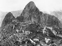 The first photograph upon discovery of Machu Picchu, 1912