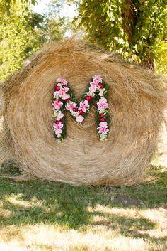 Barn Wedding ceremony backdrop