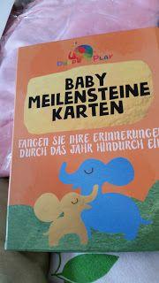 Tinedani's Testbox: Süße Baby-Meilen-Karten für's erste Lebensjahr