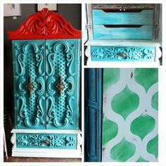 Cutting Edge Stencils shares a DIY painted and stenciled furniture ideas by Matter Boutique. Wall Stencil Patterns, Stencil Diy, Paint Stencils, Stenciled Curtains, Cutting Edge Stencils, Cool Walls, Diy Wall Decor, Designer Wallpaper, Diy Painting