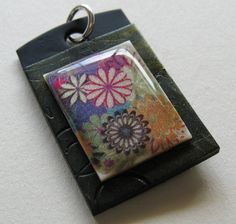 Polymer Clay Flower Pendant Approx. 1 inch wide x by BeadsToWeave