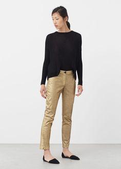 Pantalon métallisé   MANGO